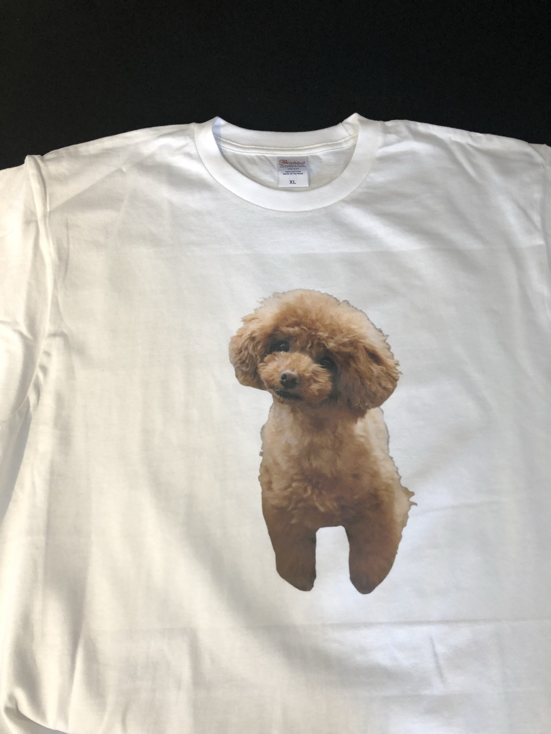 わんちゃんの写真をTシャツプリント